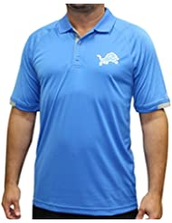 "Detroit Lions Majestic NFL ""Club Level"" Men's Short Sleeve Polo shirt Chemise"