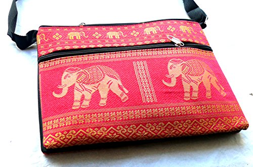 The Camphor Tree , Borsa Messenger  rosso Red Pink