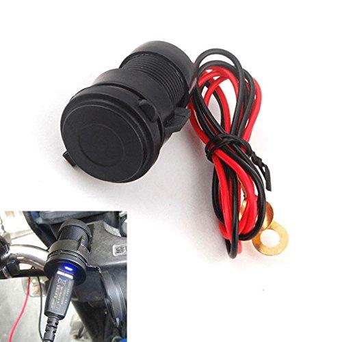 Odster Wasserdichter Handy-USB-Ladeger?t-Energien-Adapter-Buchse Passen f¨¹r Motorrad Honda, Yamaha, Suzuki, Kawasaki, KTM BMW