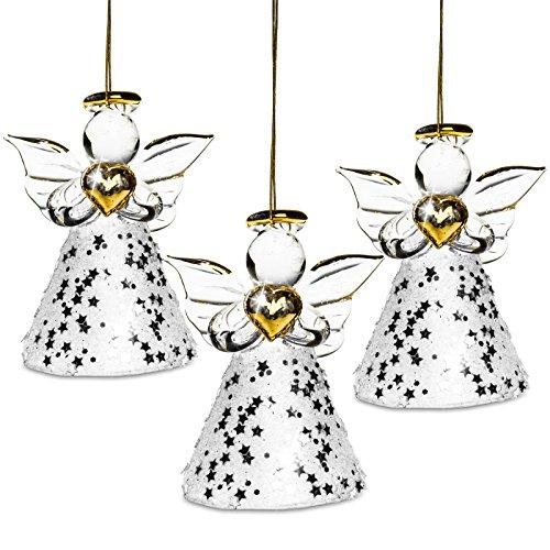 Sikora bs400vetro decorazioni albero di natale con angelo nella stella rock set
