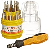 #1: Jackly Professional Hardware Magnetic Screwdriver Set Toolkit For Laptops and Mobiles ( Colour And Design May Very )