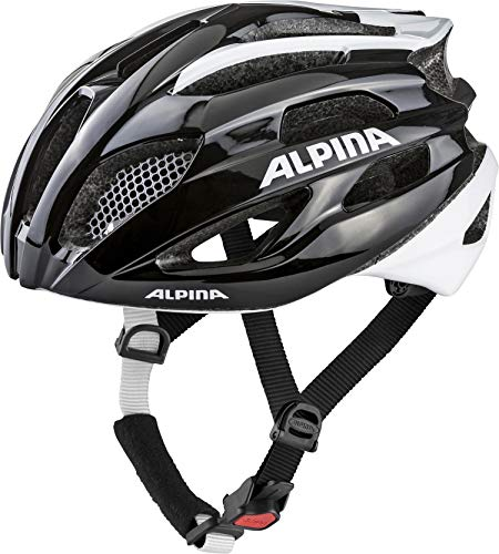 Alpina Erwachsene Fedaia Fahrradhelm, Black-White, 58-63 cm