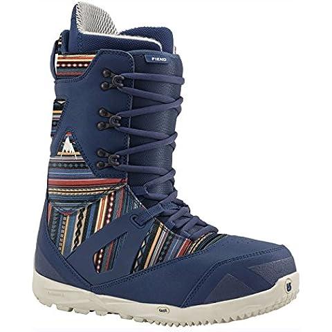 Burton–Stivali da snowboard Fiend Black, chimayo/blue,