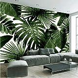 Zyzdsd Tropischer Regenwald Banane Blätter Fototapete Benutzerdefinierte Wandmalerei Wohnzimmer Sofa Schlafzimmer Hintergrund Wanddekor 3D Wandbilder-350X250CM
