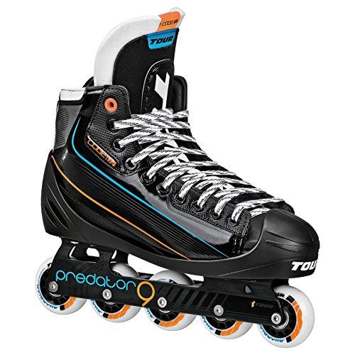Tour Hockey Code 72Inline Goalie Skate, Schwarz, 08