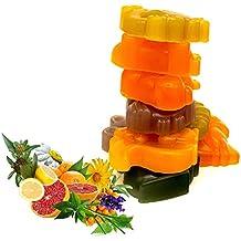 5 Ppiezas Natural Vegan Orgánico ECO BIO Jabón de la Fruta Fresco para Niños Lavado Corporal Cuidado del Cuerpo Limpieza corporal Higiene personal Regalo en Forma de un Juguete NO Preserving Agents sin Agentes Preservantes