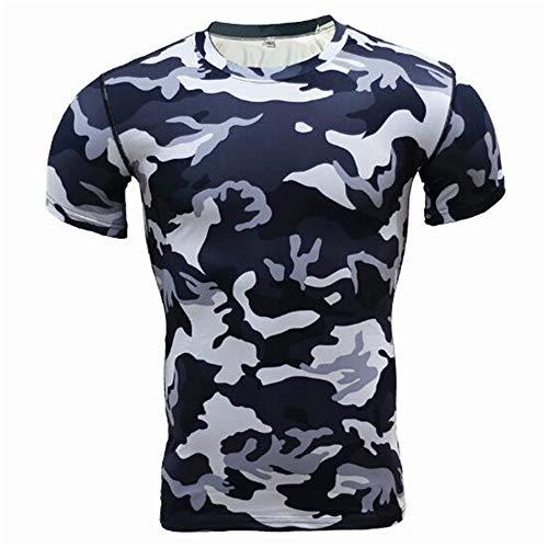 Männer Frühling Sommer Männer T-Shirts 3D Gedruckt Tier t-Shirt Kurzarm Lustige Design Casual Tops Tees Männlich,Trainingsfestes T-Shirt Camo - B XL