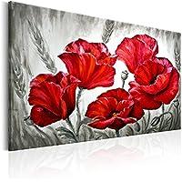 murando - GRANDE FORMATO Cuadro 120x80 cm - Flores - Impresion en calidad fotografica - Lienzo tejido no tejido - Amapola - rot b-B-0163-b-a