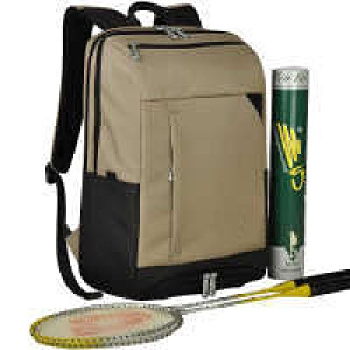PACK Casual Sport Zaino Studente Badminton Tennis Racket Spalle Uomini E Donne Out Out Travel B:Khaki