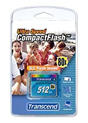 512mb Transcend 80x Compact Flash Memory Card