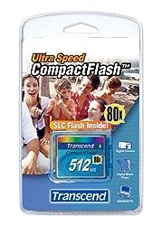 512mb Transcend 80x Compact Flash Memory Card