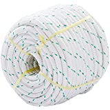 Autntico Double Braid Rope Sling 3/7'' X 150' Large Size Polyester Material Ideal For Climbing Caving Other Outdoor Sports 5900 LBS Breaking Strength High Strength Low Stretch Torque Free UV Rays Resistance