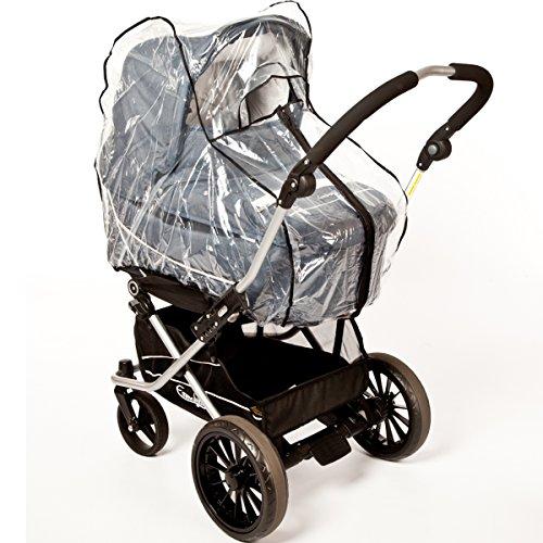 UNIVERSAL Regenverdeck/Regenschutz mit REIßVERSCHLUSS für Kinderwagen Buggy Jogger Sportwagen
