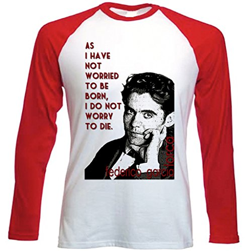 Teesquare1st Men's FEDERICO GARCIA LORCA Red Long Sleeved T-shirt Size