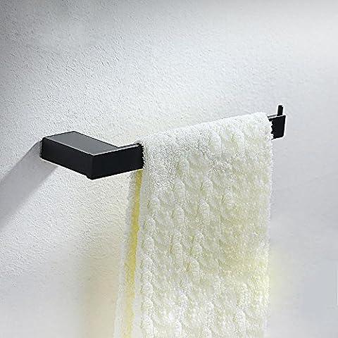 SDKKY 304 Edelstahl gebürstet Edelstahl Handtuchhalter, Wc, schwarz single bar Handtuchhalter, square Metal Anhänger
