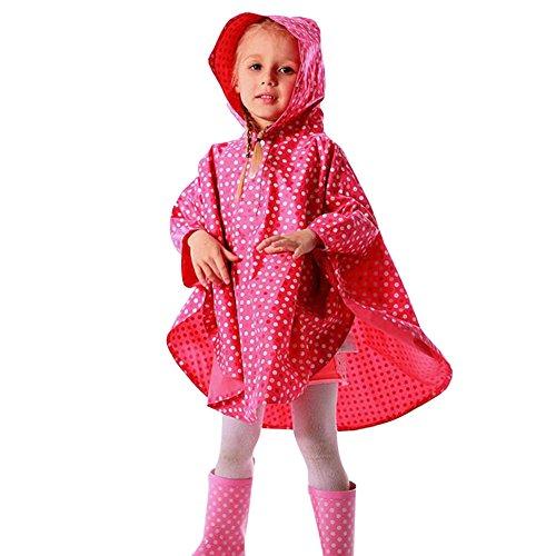 Enfant Imperméable Ponchos de Pluie avec Capuche Chauves Souris de Bébé pour Fille Garçon