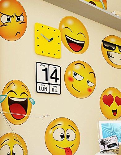 Stickerbrand Aufkleber von Emoji-Wandaufkleberikonen stellt Aufkleberaufkleber gegenüber 10in X 10in
