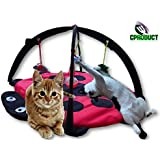 CProduct Cute Activity Center Play Mat With Hanging Mice And Balls Cat Toys