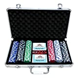 HOW (HOUSE OF WISHES) with Device Multicolour Professional 300 Poker-Chips Set with Aluminium