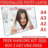 Personalised Framed Photo Canvas Print Custom Large Box Printing READY TO HANG