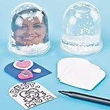 Blanko-Schneekugeln für Kinder zum Verzieren und als Kleines Geschenk (4 Stück)