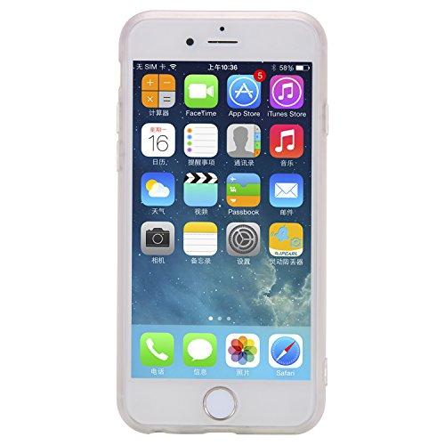 Coque iPhone 6 , Envelop Coque en Silicone Gel TPU Etui Housse iPhone 6S Souple Flexible Ultra Mince Housse de Protection pour Apple iPhone 6 / 6S (4.7 pouces) Case Cover Soft Slim Mince Léger Anticho Boussole Skull