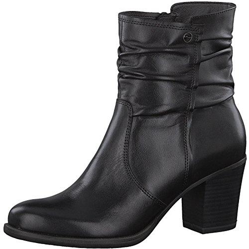 Tamaris Damen Stiefelette 25341-21,Frauen Stiefel,Boot,Halbstiefel,Damenstiefelette,Bootie,Reißverschluss,Blockabsatz 7cm,Black,EU 41