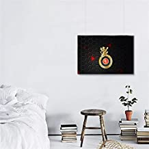 GADGETS WRAP Play Bold RCB Logo Wall Poster Photo Matte Paper for Office & Home Walls - 8.0inx14.2in