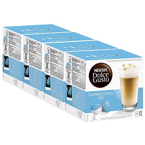 Nescafé Dolce Gusto Cappuccino Ice, Kaffee, Eiskaffee, Kaffeekapsel, 4er Pack, 4 x 16 Kapseln (32...
