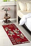 Rangoli Home Bed Side Polyester Runner ,...