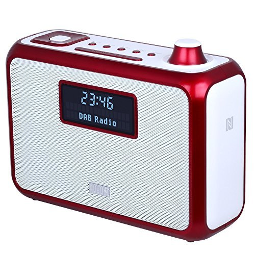August MB400R Radio Digitale DAB/DAB+ - Radiosveglia FM/DAB/DAB+ con Altoparlante Stereo Bluetooth NFC - Radio Portatile e lettore MP3 : porta USB / Lettore di Scheda SD / Ingresso 3,5mm - Cassa Stereo Compatta