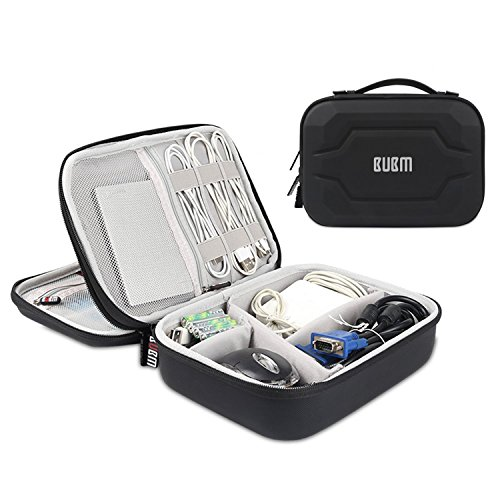 Elektronik Zubehör, EVA Wasserdicht Aufbewahrungstasche Universaltasche Elektronische Tasche für Elektronische Zubehörtasche und Universal Kabel USB (Schwarz) (Reißverschluss-abschnitte Zwei)