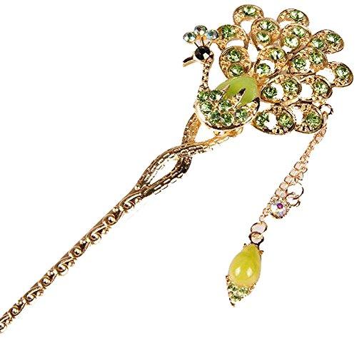 Classical Moods épingle cheveux Ornements Barrette Chapeaux Crown vert