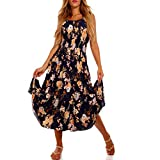 YC Fashion & Style Damen Maxikleid Strandkleid Freizeitkleid mit Allover-Druck, Größe:L/40, Farbe:Mehrfarbig/Model7