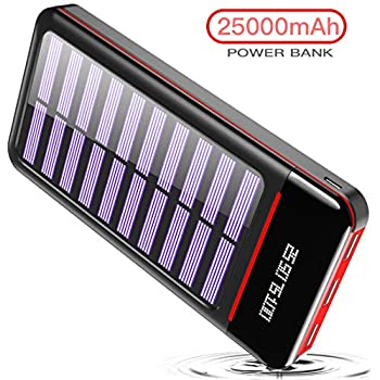 Wiswan Portable Charger Solar Power Bank 24000mah External