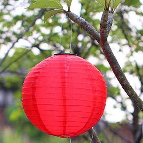 JJ.Accessory 1PCS 12 Zoll 30CM Solar Lantern Hanging Light für Outdoor Garden Yard Halloween Festival Dekoration