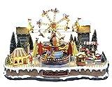 25 twentyfive Villaggio Natalizio con Luna Park, Movimento, luci, Musica (70 x 45 x 52 cm)