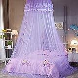 HOMIXES Baby Baldachin Betthimmel Rund Spitze Prinzessin Moskitonetz Insektenschutz Spielzimmer Kinder innen außen Lesezelt für Schlafzimmer Dekoration
