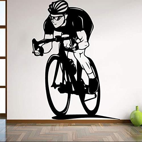 58x80cm Bicycle Wall Sticker für Boy -bedroom Decoration Cycling Home for living Room Interior Art Decor Dorm Studio Club Art Mural - Boys-club-fitness-studio