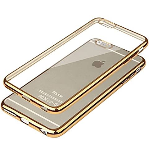 Apple iPhone 7, Apple iPhone 8 Hülle Transparent Rand Gold