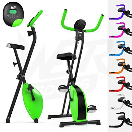 we r sports cyclette magnetica pieghevole fitness cardio, verde