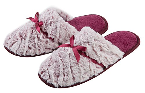 4Kidz , Chaussons pour fille Purple Ribbon Slippers