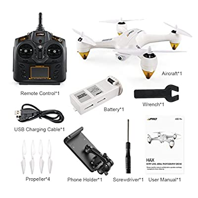 Jintime JJPRO X3 RC Quadcopters Drone GPS 2.4G 6CH Brushless WiFi FPV 1080P RTF Level Aerial Photography Drone by Jintime