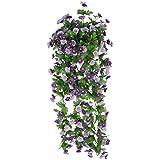 Piante Artificiale Vite Di Fiore Margherita Glicine Appeso Decorazioni Giardino Viola