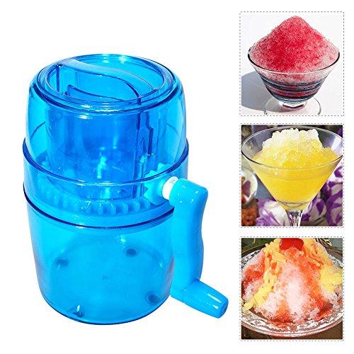 Eiscrusher, manuelle Eiscrusher Handkurbel Eisgrinder tragbare Hand Eiswürfelschneider Maschine Maker Blender Home Verwendung für Schnee Kegel gefrorene Getränke Smoothie (Schnee Kegel Maschinen Für Kinder)