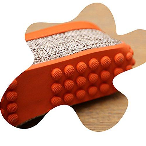 Oriskey Herren Mokassin Bootsschuhe Wildleder Loafers Schuhe Leinenschuhe Flache Canvas Fahren Halbschuhe Sandalen Orange