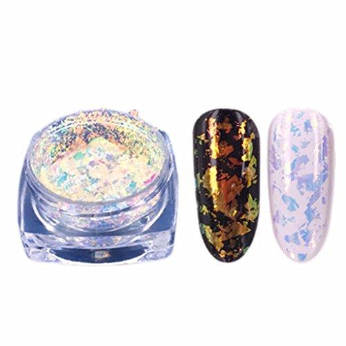 Schablonen Einfache Kürbis (Xshuai Fashion Design natürliche Glitzer Aluminium Flakes Magic Mirror Effektpulver Sequins Nail)