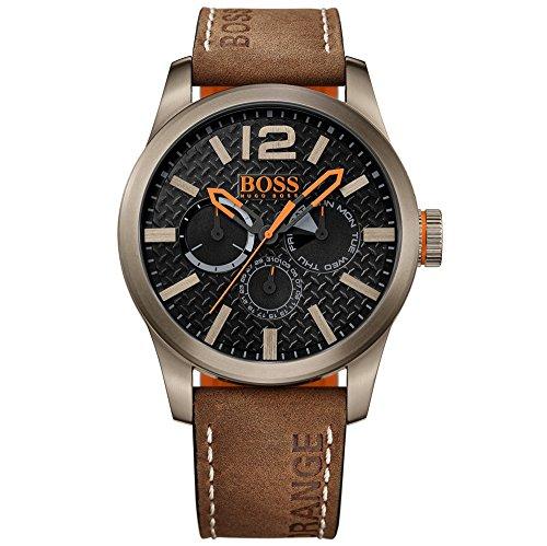 BOSS Orange Herren-Armbanduhr PARIS Multieye Analog Quarz Leder 1513240