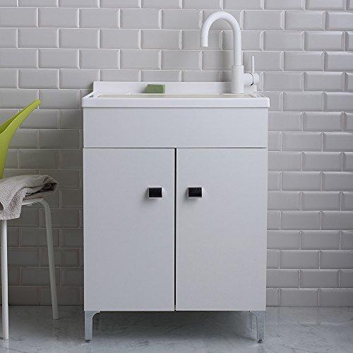 Mobile lavanderia 60x50 cm con lavandino in resina profondo