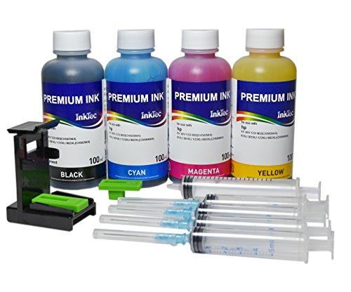 Preisvergleich Produktbild Refill-Kits für Original-Patronen HP N° 300 mit InkTec Tinte PREMIUM PHOTO für drucker DeskJet D5500